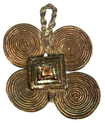 Art African - Antique Pendant Bronze Akan - Jewelry Baoulé Antique - 6 CMS