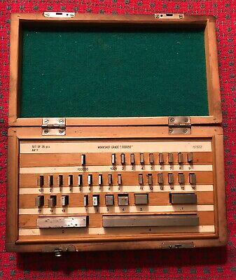 36 Piece Gage Block Set Square Nice Condition. .000050