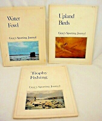 Waterfowl Hunting Journal - Lot of 3 1970s Grays Sporting Journals Trophy Fishing Water Fowl Hunting Birds