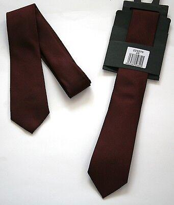 Herren Krawatte Binder Schlips Langbinder Herrenkrawatte Bordeaux Uni  Neu Krawatte, Lange Krawatte