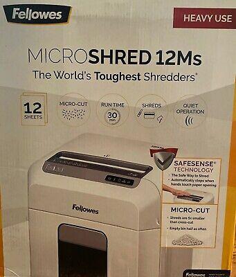 Fellowes Microshred 12 Ms CRC46300 The World's Toughest Shredders