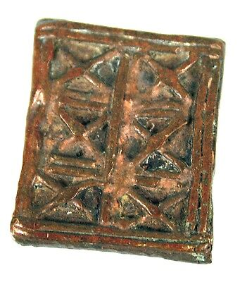 Art African - Antique Weight to weigh Gold Bronze - Pattern Akan - One Ounce