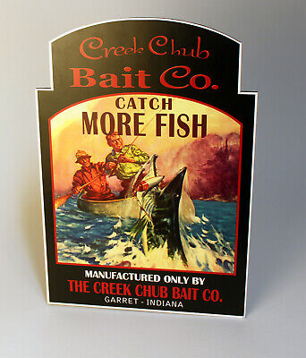 Creek Chub Bait Co Garret Indiana Stand-up Advertising Sign