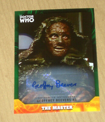2017 Topps Doctor Who signature GREEN autograph Geoffrey Beevers as MASTER 45/50