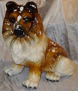 LARGE Dog Border Collie Statue Figure Figurine South Windsor Hawkesbury Area Preview