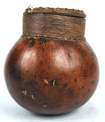 Art African Antique - Adorable Container Common IN Calabash Senoufo - 12,3 CMS