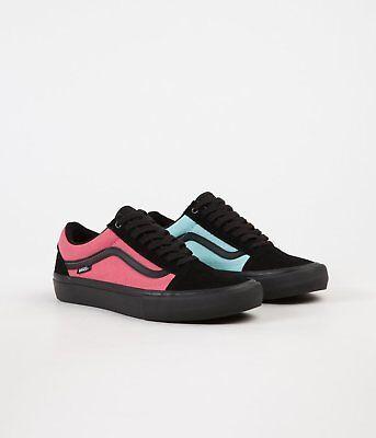 (NEW Vans Slip On Pro Asymmetry Black Rose Blue Multi Color Supreme Mens Shoe )