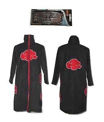 Naruto Akasuna no Sasori Deluxe Men's Cosplay Costume Cloak with the Headband  - Naruto Costums