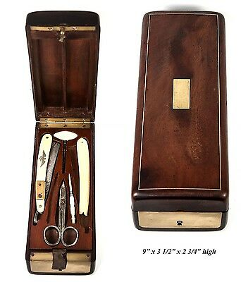 Antique French Military Officer's Shave & Vanity Kit, c.1800, Napoleonic, Eagle