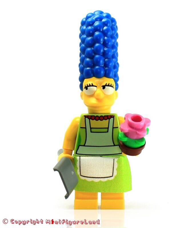 Lego New Marge Simpson Minifigure with Blue Shirt from Set 71006