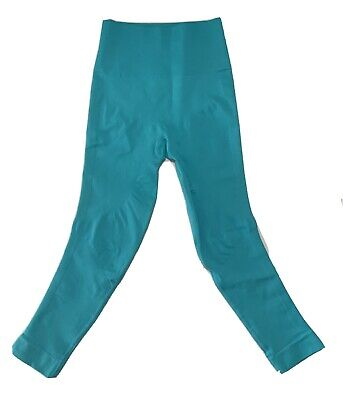 Lululemon Womens Size 4 Zone In Tight High Rise Cropped Leggings Turquoise Blue