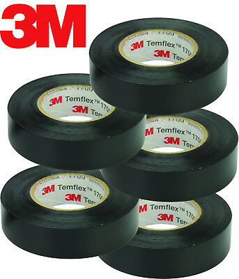 3m Temflex 1700 34 X 60 Black Vinyl Electrical Tape In Out Door 5-roll