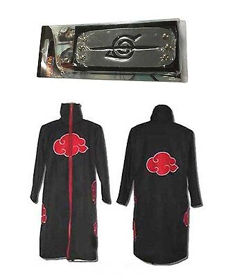 Halloween Naruto Itachi Uchiha Deluxe Cosplay Costume Black SIZE S SMALL