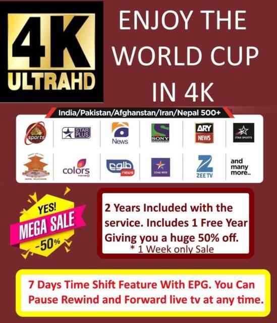 indian arabic pakistan afghan iptv Cricket-199$ included 2 years