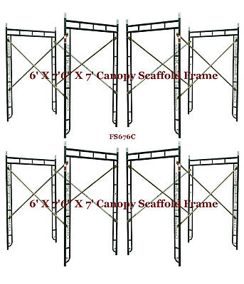 Cbm Scaffold 4 Set Of 6 X 76 X 7 Canopy Scaffold Frame For Entry Side-walk