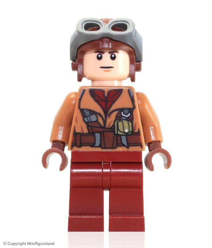 Lego New Star Wars Minifigure Naboo Fighter Pilot Medium Nougat Jacket