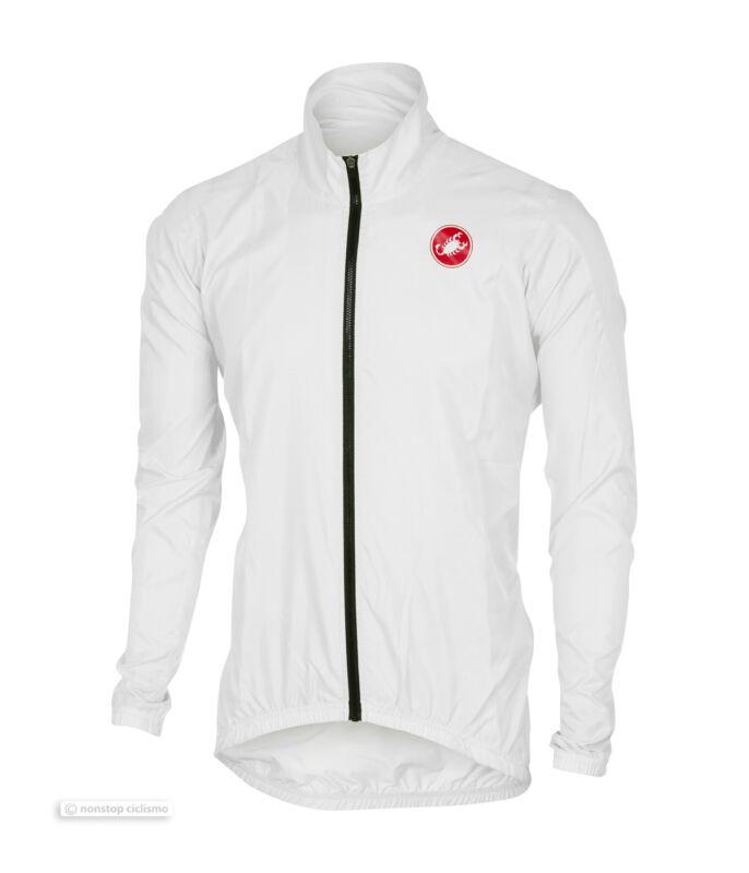 Castelli SQUADRA ER Jacket Lightweight Windproof Cycling Wind/Rain Shell : WHITE