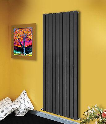 Vertical Flat Panel Column Designer Bathroom Radiators Anthracite 1800x680mm