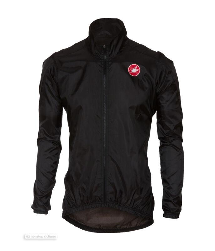 Castelli SQUADRA ER Jacket Lightweight Windproof Cycling Wind/Rain Shell : BLACK