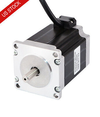 Dual Shaft Nema 23 Stepper Motor Bipolar 1.9nm269oz.in 2.8a 57x76mm 4 Wires