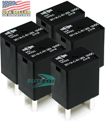 Song Chuan 301-1a-c-r1-u03 12vdc Micro 280 Spst 35a Relay Pack Of 5 Free