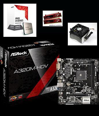 Aufrüst Bundle Kit AMD A10 9700 3,8GHz 8GB DDR4 Set A320 USB3 HDMI VGA Gaming