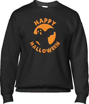 Happy Ghost Halloween Costume (Happy Halloween Ghost Party Costume Teacher Parent Appropriate Mens)