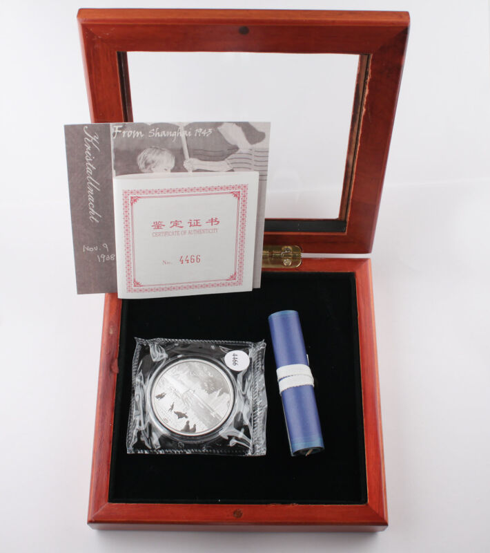 2013 China Shanghai Ghetto Memory PANDA Jewish 1 oz Silver Proof Medal w/BOX+COA