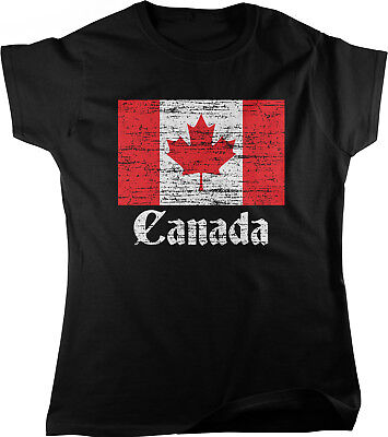 Canadian Flag, Canada Pride Womens T-shirt