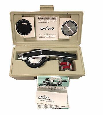 Vintage Dymo 1550 1500 Series Tapewriter Chrome Label Maker In Hard Case