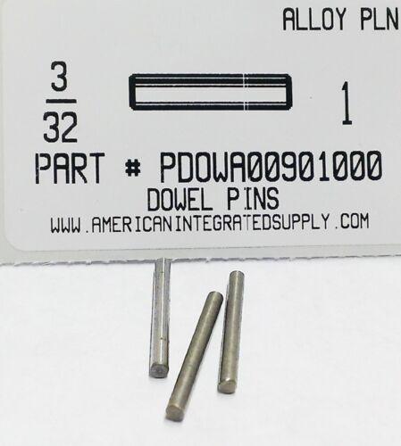 "3/32X1"" DOWEL PIN ALLOY STEEL PLAIN (25)"