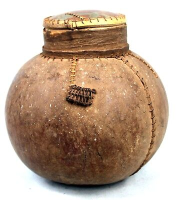 Art African Arts Premiers - Antique Calabash Usual Tuareg - 21,5 Cm