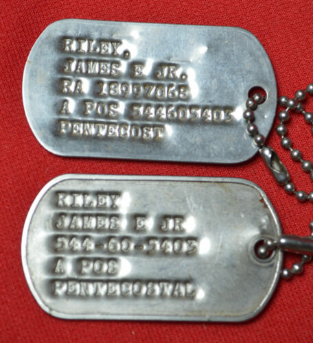 Military Dog Tags - Date Unknown