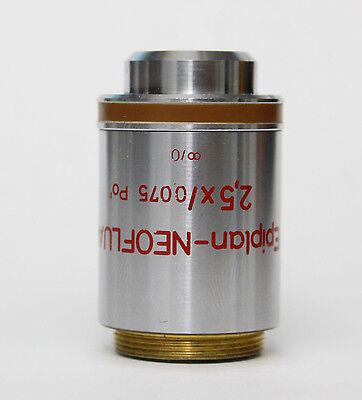 Zeiss Epiplan-neofluar 2.5x 0.075 Pol Infinity Microscope Objective Axio