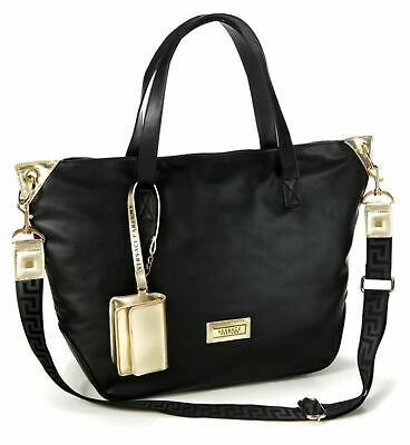 VERSACE PARFUMS BLACK & GOLD TOTE/ SHOPPER/ SHOULDER/ HAND BAG SEE DESCRIPTION