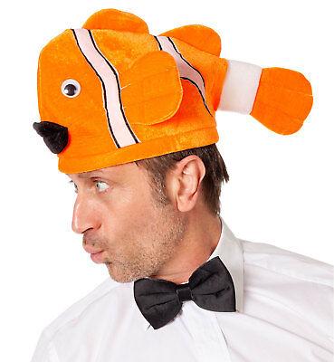 BlubbDiBlubb Fisch Hut Orange NEU - Karneval Fasching Hut Mütze Kopfbedeckung