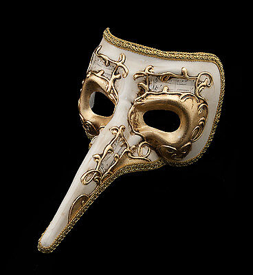 Mask from Venice Beethoven Nasone - Gala Venetian Long Nose Authentic 1461 VG9