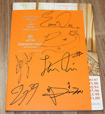 ASTRO Autumn Story 3rd Mini Album K-POP REAL SIGNED AUTOGRAPHED PROMO CD