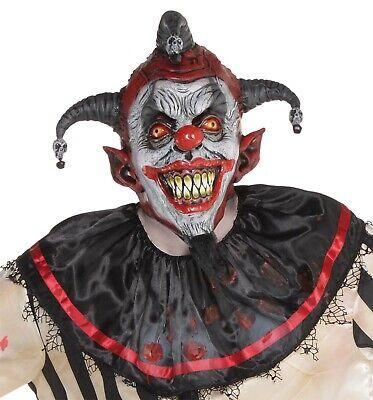 Killer Hofnarr Herren Erwachsene Böser Clown Vollständige Latex Maske Kostüm