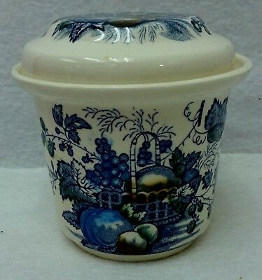 MASON'S china FRUIT BASKET BLUE pattern C4892 Drip Jar & Lid - 4