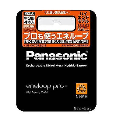 4 Panasonic Eneloop Pro High End Batteries 2500 mAh AA Rechargeable Batteries