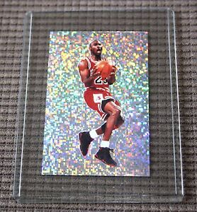 Michael-Jordan-Panni-1992-AUTHENTIC-Reflective-Sparkle-sticker-card-Very-Rare