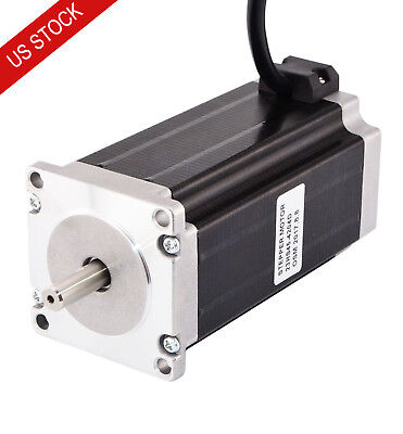 Dual Shaft Nema 23 Cnc Stepper Motor Bipolar 3nm425oz.in 4.2a 57x114mm 4 Wires