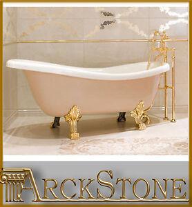 Arckstone vasca bagno antico epoca bianco relax idrosystem cassiopea 170x80 oro ebay - Vasca da bagno con i piedi ...