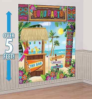 Tiki Scene Setter Wall Decoration Poster Luau Beach Party Supplies Summer Decor - Luau Supplies