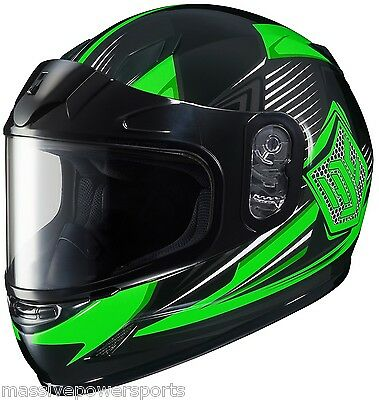 HJC CL-Y YOUTH Striker Snowmobile Helmet Green YOUTH MD Medium Full Face CHILDS