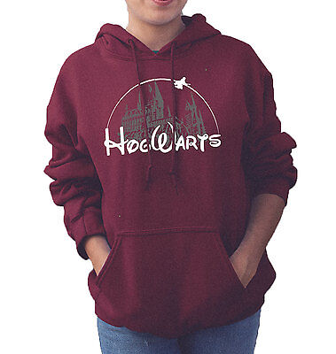 Harry Potter Disney Castle Hogwarts Wish Upon College Hoodie Adults Unisex Top