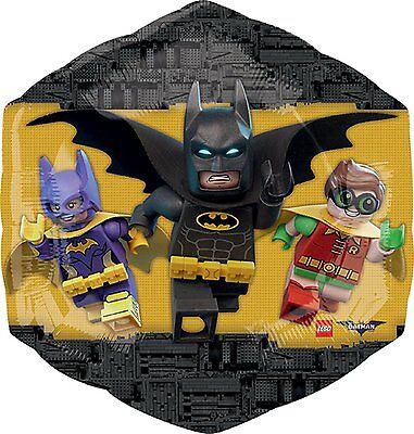 THE LEGO BATMAN MOVIE Birthday Jumbo 23 x 22 inch SuperShape Foil Mylar - Lego Batman Balloons