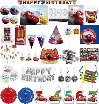 Kinder-Geburtstag Party Deko Feier Fete Motto Cars Legende der Strecke ()