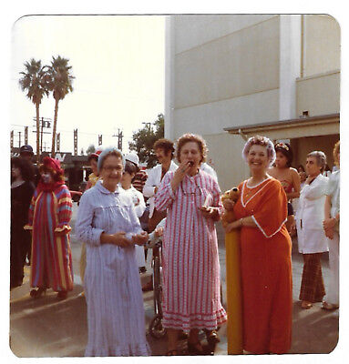 Square Vintage 80s PHOTO Women In Nightgowns Halloween Office Outdoor Party